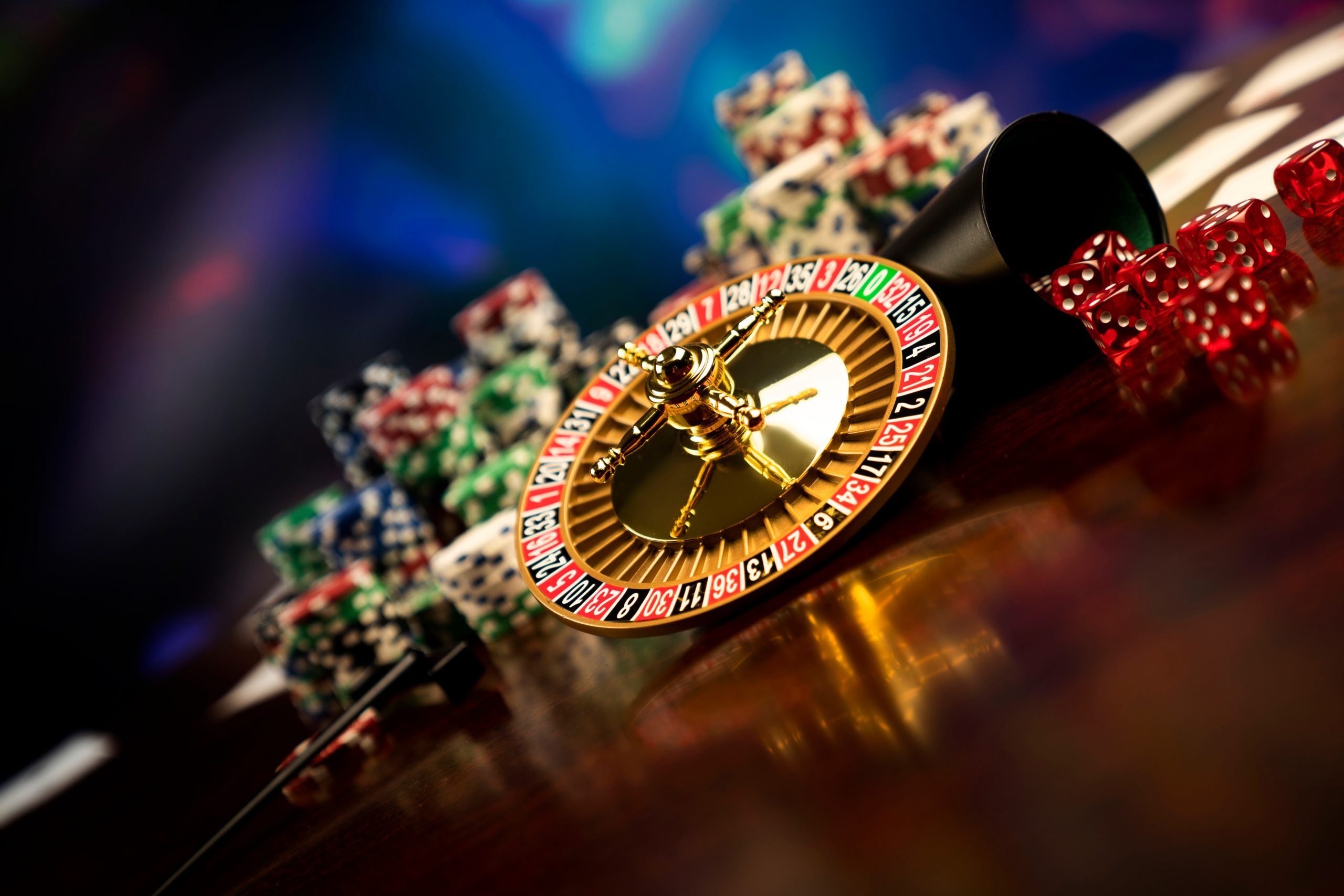 Casino,Concept,Background.,Poker,Chips,On,The,Table.